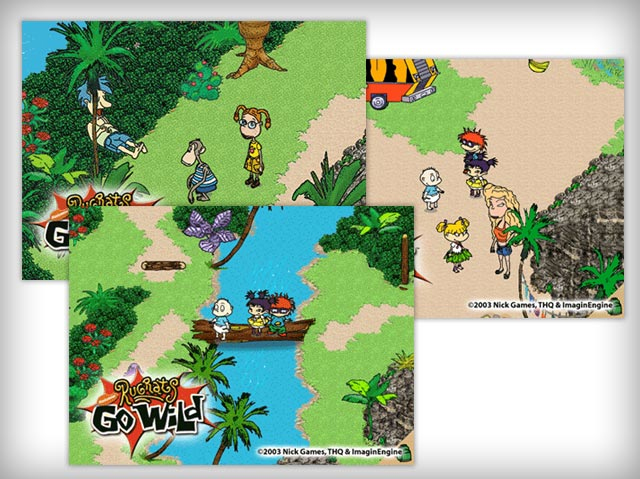 Rugrats Go Wild Gameboy game (Art Production Work)