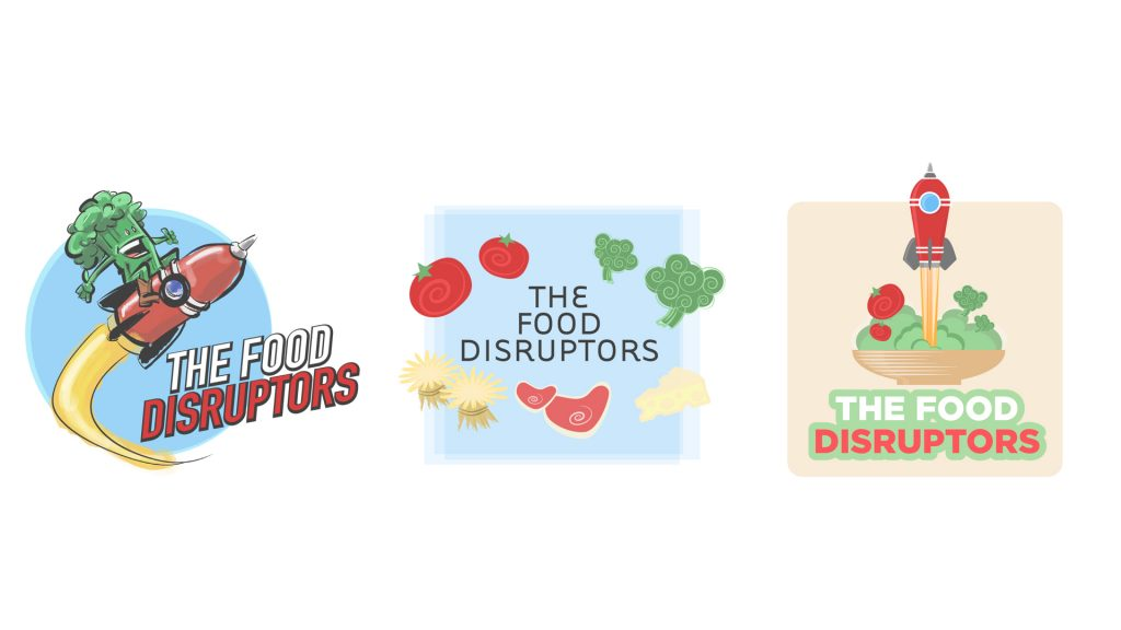 The Food Disruptors Logo revisions round 1